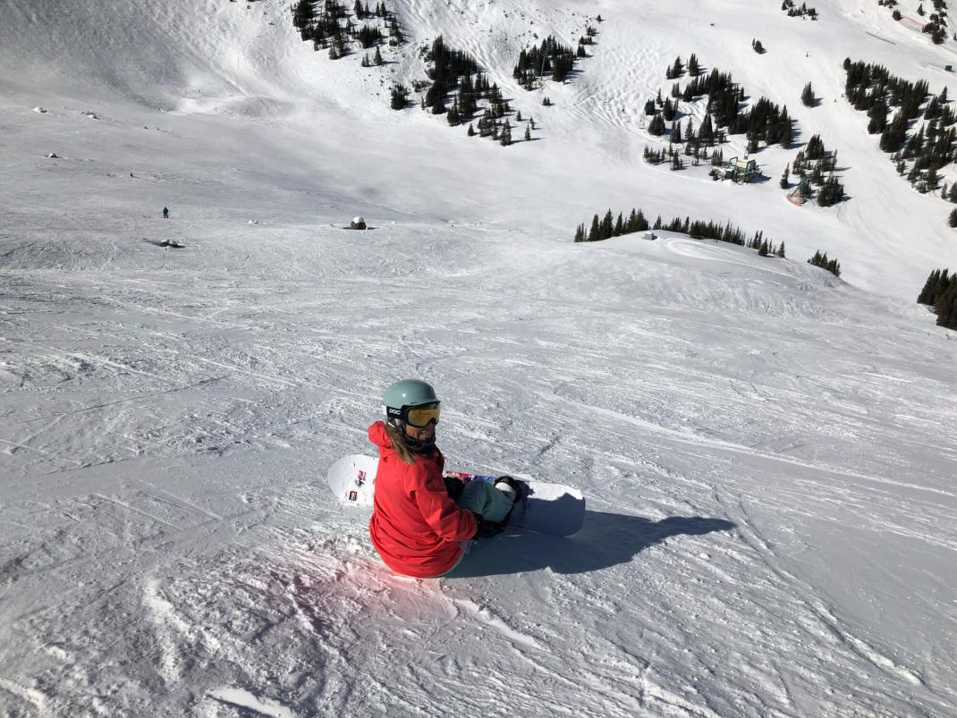 Winterurlaub in Kanada Anna im Schnee
