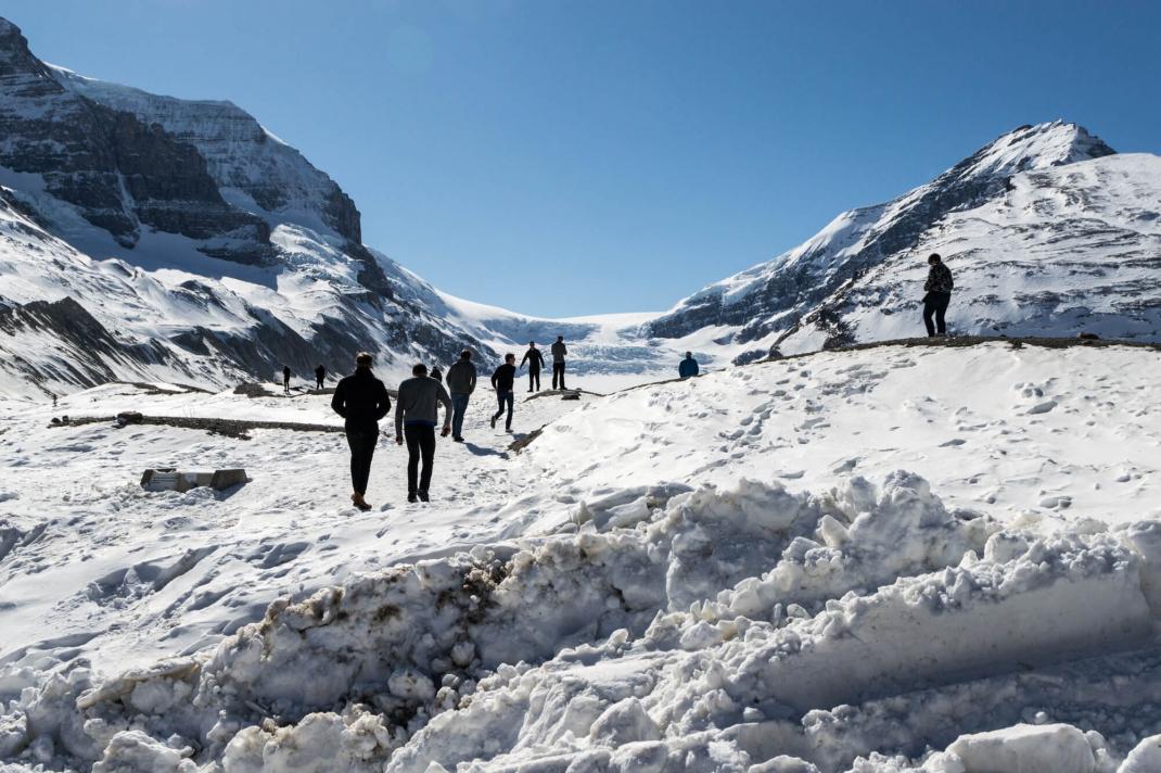 Winterurlaub in Kanada Athabasca Glacier im Winter
