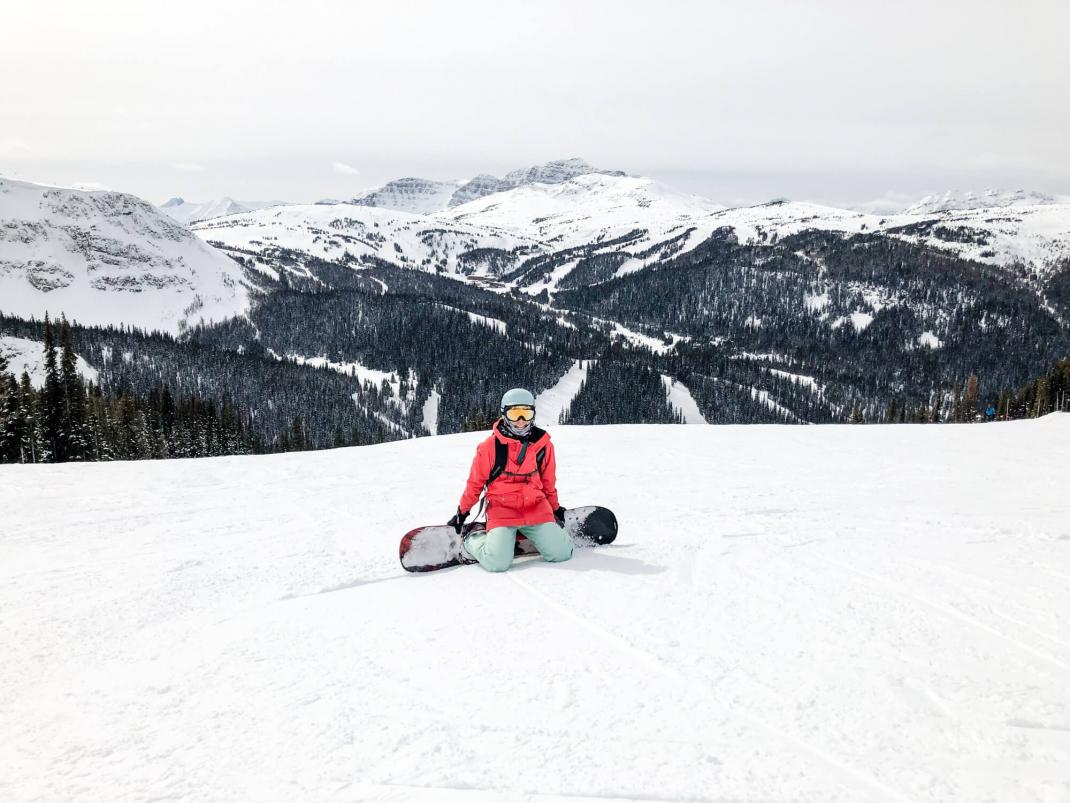 Winterurlaub in Kanada Aussicht Sunshine Village Skigebiet