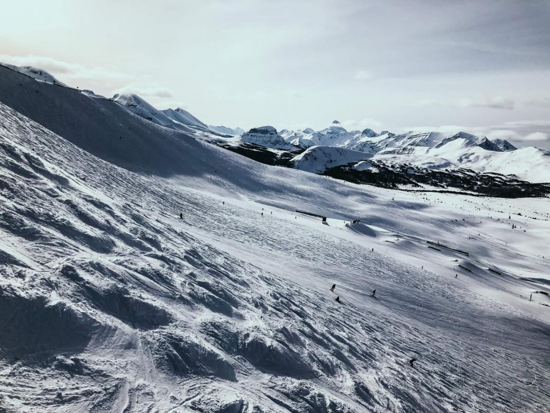 Winterurlaub in Kanada Piste in Sunshine Village