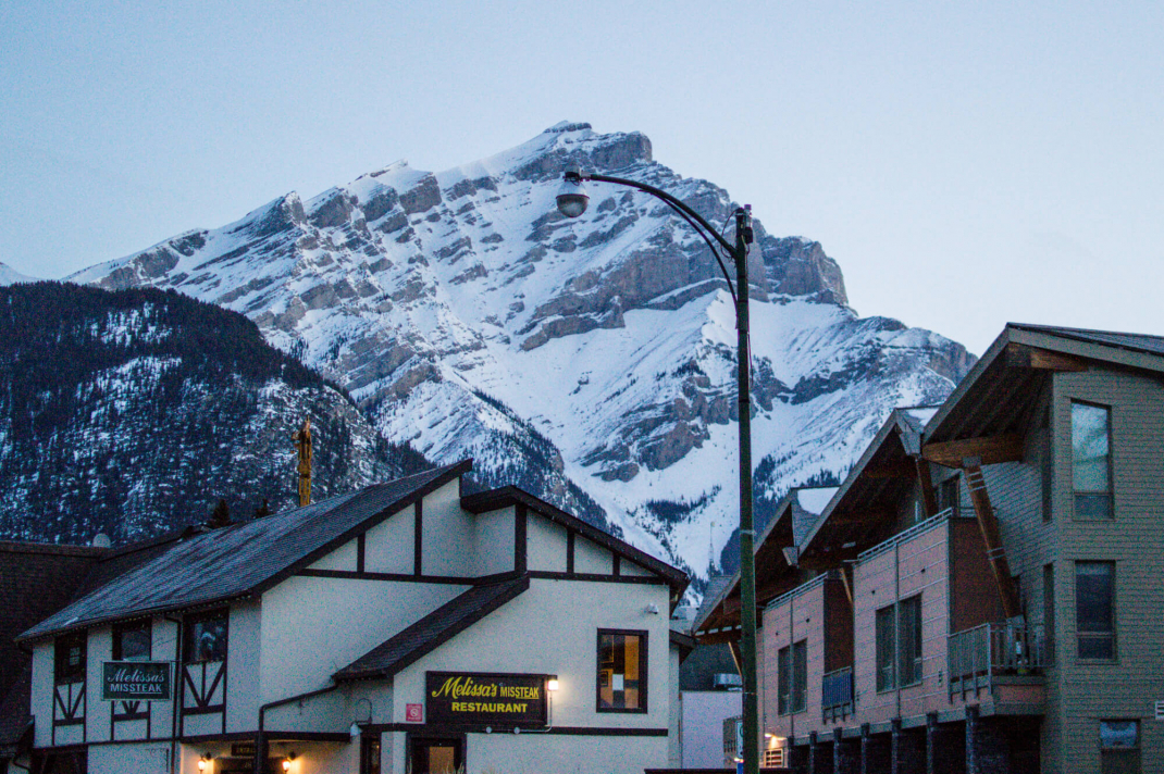 Winterurlaub in Kanada Sonnenaufgang in Banff