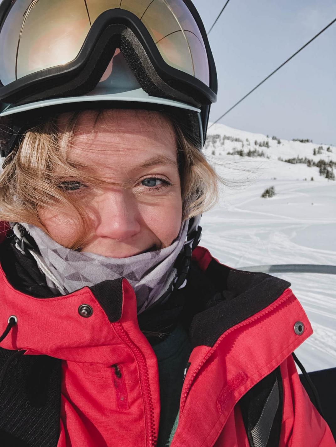 Das kostet der Winterurlaub in Kanada Liftselfie